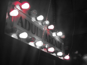 unit arcade sign